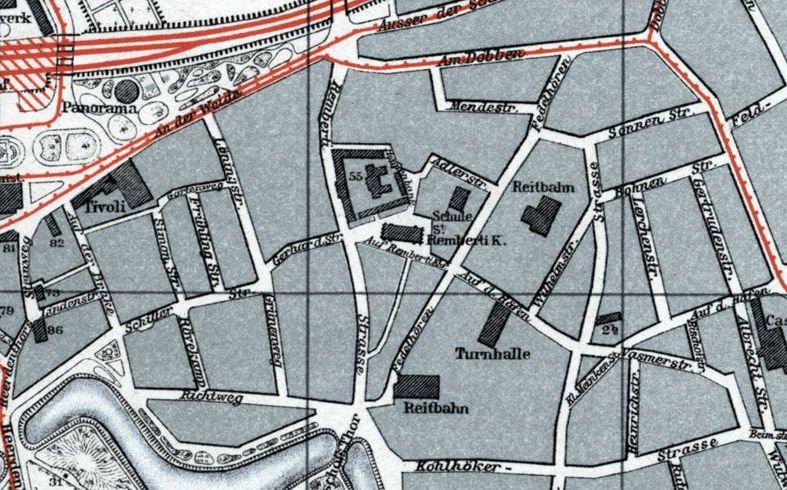 Bremer Stadtplan von 1914, Quelle: SuUB Bremen
