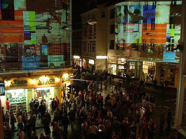 BNC Haut der Stadt, Projektionen, Bremen, 2005, Quelle: Zoom