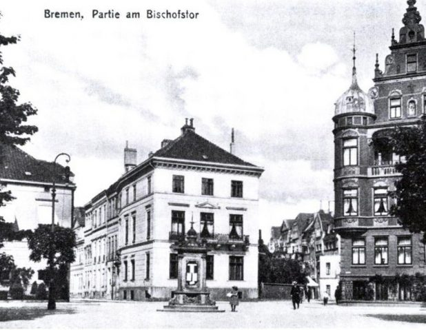 Blick auf Rembertistr. und Fedelhoeren aus Richtung, um 1920 | Foto: Herm. Chr. Buesing