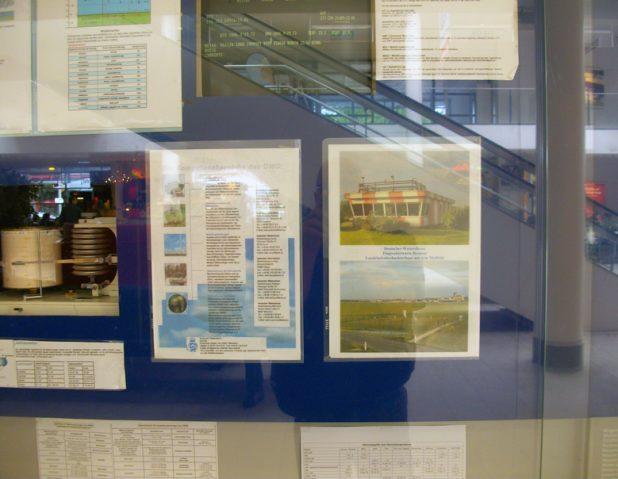 Wetter-Information Abflughalle, Flughafen Bremen | Foto: J.Amthor, 2011