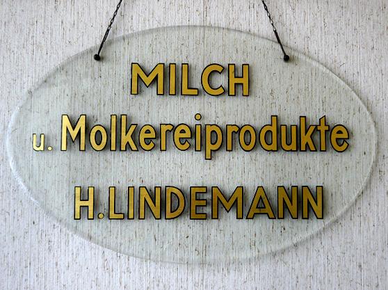 Reklameschild Lindemann Molkereiprodukte