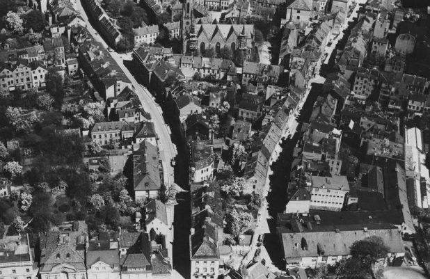 Luftbild Rembertistrasse/Fedelhoeren, um 1930 | Quelle: Staatsarchiv Bremen